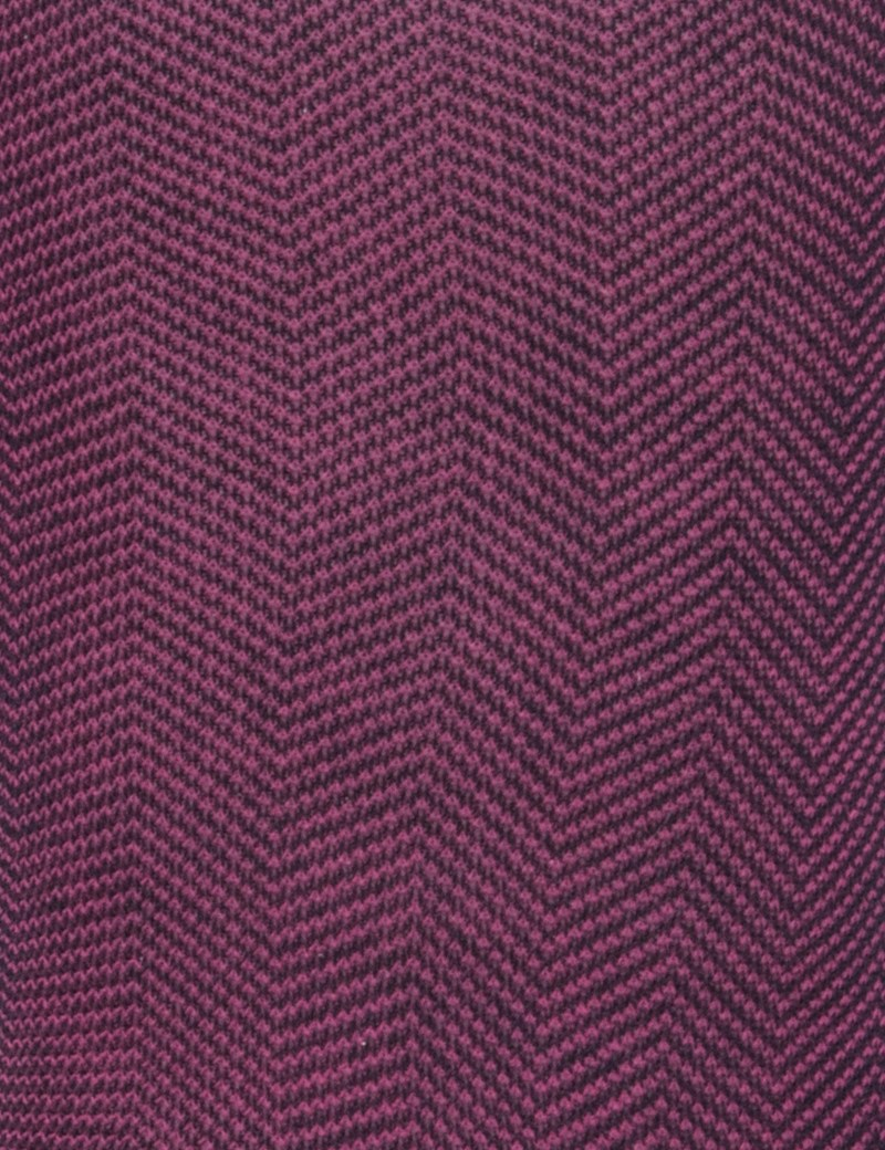 Men's Navy and Fuchsia Herringbone Cotton Rich Socks