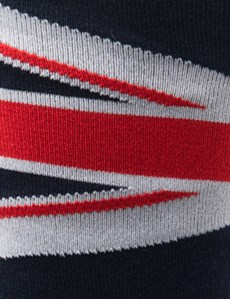 Men's Navy & Red Union Jack Cotton Rich Socks