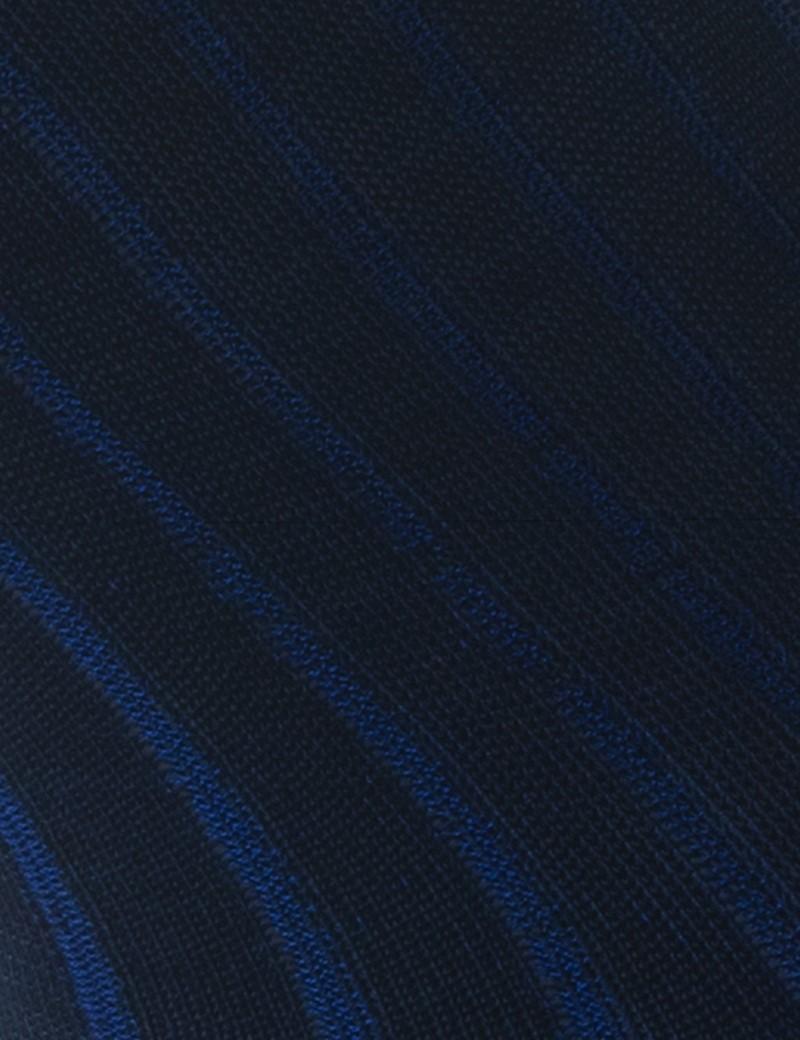 Herren Strümpfe – Socken – Baumwolle – dunkelblau gerippt