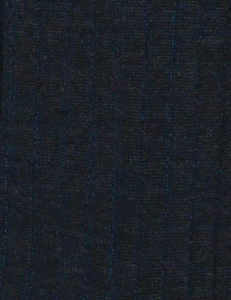 Men's Grey Plain Ribbed Cotton Rich Socks