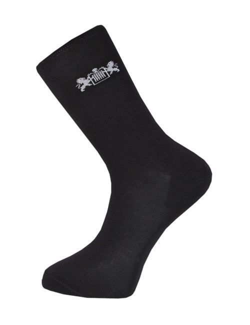Men's H&C Black Cotton Rich Socks -  3 Pair Pack
