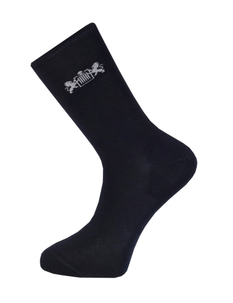 Men's Navy Cotton Rich Socks -  3 Pair Pack