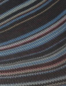 Men's Beige & Blue Multi Stripe Cotton Rich Socks