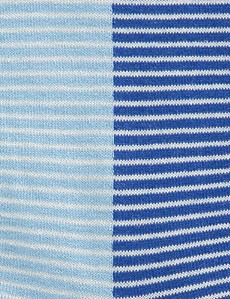 Men's Blue & Light Blue Fine Stripe Cotton Rich Socks