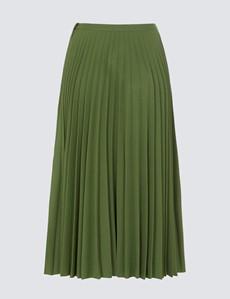 Women's Lottie Green Midi Skirt