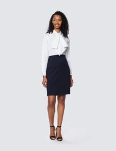Women's Navy Suit Skirt