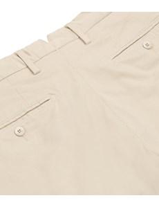 Men's Beige Garment Dye Chino Shorts