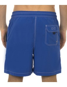 Plain Blue Garment Dye Swim Shorts