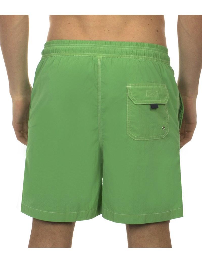 Men's Green Garment Dye Swim Shorts