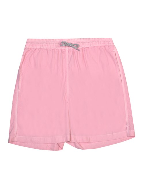 Plain Pink Garment Dye Swim Shorts