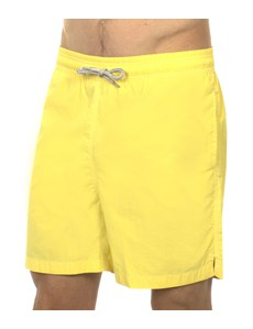 Men's Yellow Garment Dye Swim Shorts