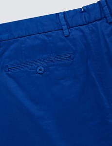 Men's Cobalt Blue Chino Shorts