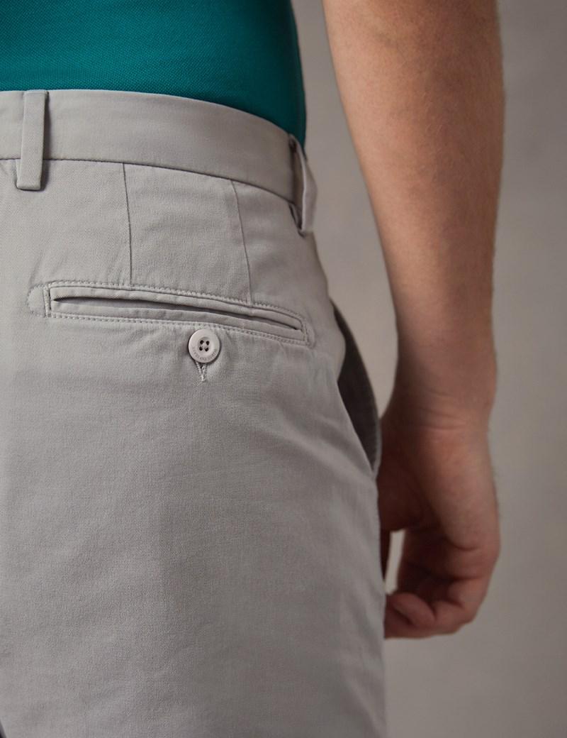 Herren Shorts – Slim Fit – Garment Dye – Grau