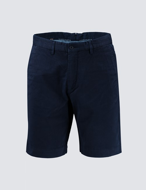 Men's Navy Chino Shorts