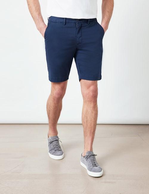Chino Shorts – Slim Fit – Bio-Baumwollstretch – Navy