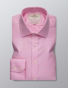 Men's Dress Pink Slim Fit Shirt - Single Cuff - Non Iron