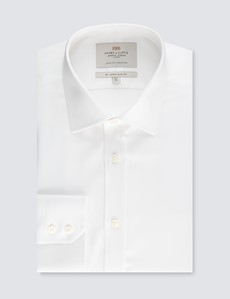 Men's Formal White Slim Fit Shirt - Single Cuff - Easy Iron