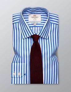 Businesshemd – Slim Fit – Kentkragen – Streifen blau & weiß