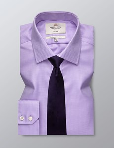Men's Dress Lilac Slim Fit Shirt - Single Cuff - Non Iron