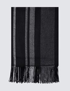 Women's Black Bordered Shawl