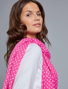 Women's Pink Polka Dot Scarf