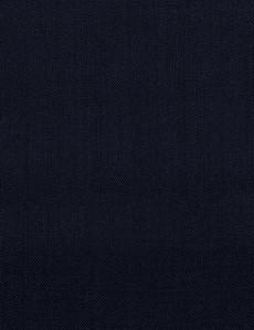 Navy 100% Wool Light Plain Scarf