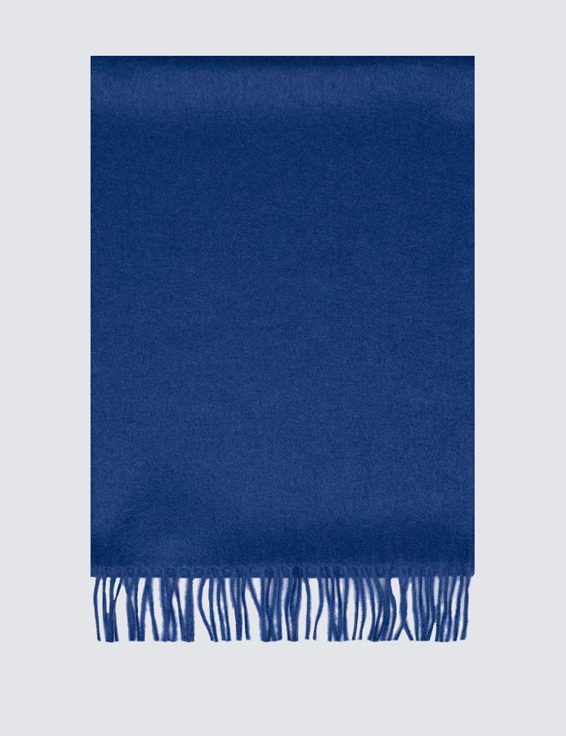Plain Blue 100% Cashmere Scarf