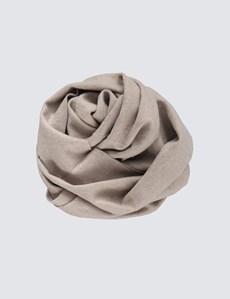 Plain Natural 100% Cashmere Woven Scarf