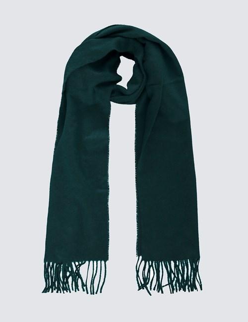 Eleganter Schal - 100% Kaschmir - Smaragdgrün