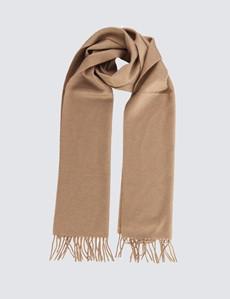 Eleganter Schal - 100% Kaschmir - Beige