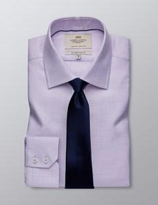 Businesshemd – Slim Fit – Kentkragen – Strukturiert flieder