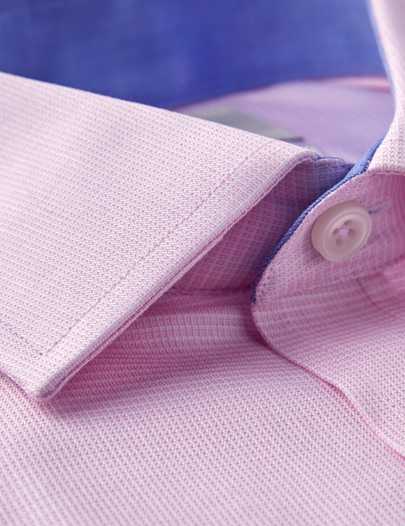 Men's Business Pink Slim Fit Shirt - Single Cuff - Easy Iron