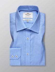 Businesshemd – Slim Fit – Kentkragen – Pepita blau