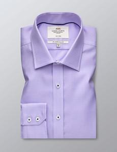 Men's Formal Dobby Lilac Slim Fit Shirt - Single Cuff - Non Iron