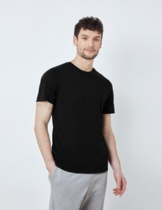 Black Garment Dye Organic Cotton T-Shirt