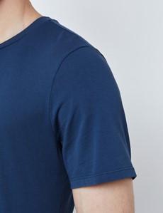 Dark Blue Garment Dye Organic Cotton T-Shirt