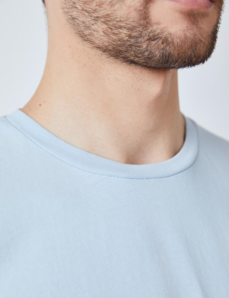 Light Blue Garment Dye Organic Cotton T-Shirt