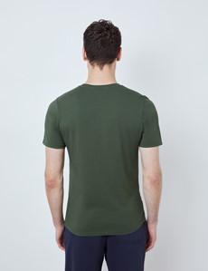 Green Garment Dye Organic Cotton T-Shirt