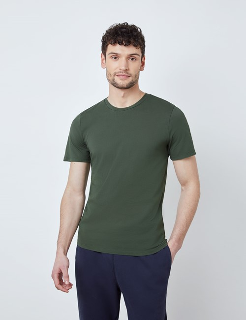 Green Garment Dye Organic Cotton T-Shirt