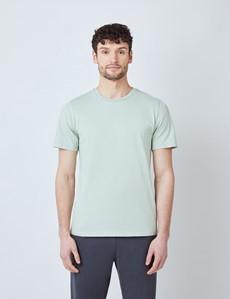 T-Shirt – Rundhals-Ausschnitt – Garment Dye – Bio-Baumwolle – Hellgrün