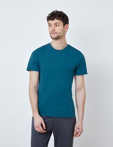 Dark Teal Garment Dye Organic Cotton T-Shirt