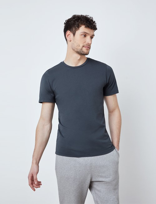 Dark Grey Garment Dye Organic Cotton T-Shirt