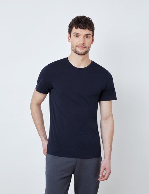 Navy Garment Dye Organic Cotton T-Shirt