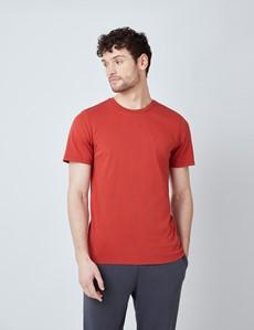 Rust Garment Dye Organic Cotton T-Shirt
