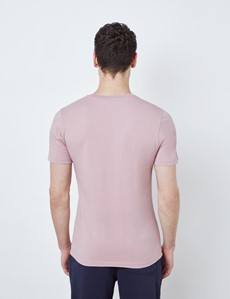 Light Pink Garment Dye Organic Cotton T-Shirt