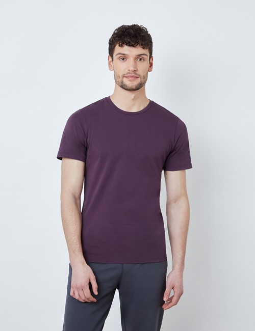 Blackberry Garment Dye Organic Cotton T-Shirt