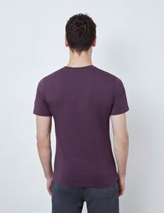 Blackberry Garment Dye Organic Cotton T-Shirt