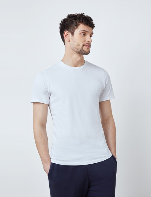 White Garment Dye Organic Cotton T-Shirt