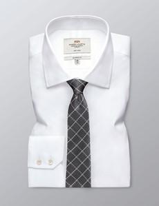 Krawatte – Seide – Standardbreite – Vierecke Grau