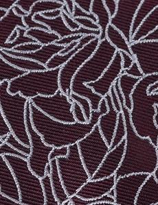 Men's Wine Leaf Print Tie - 100% Silk